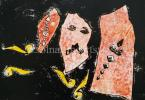 Bálint, Endre  (1914-1986)  Scattered his Wealth, 1969  19×27cm monotype on paper Signed bottom right:  Bálint 1969 Zsennye  Reproduced, Exhibited