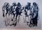 Standing nudes 26×37cm etching on paper Signed bottom right: Barcsay