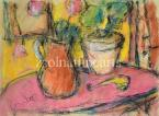 Still-Life with Pipe 43,5×58cm Pastel on paper Signed bottom left: Czóbel