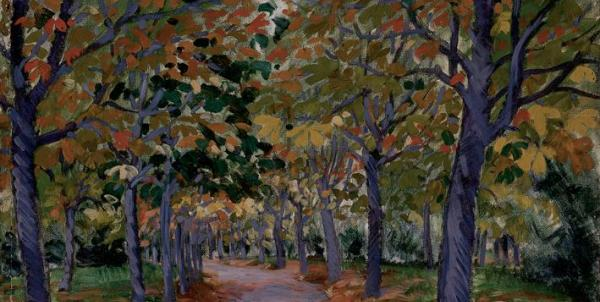 Géza Kádár  (1878-1952) Alley of Chestnut Trees, 1912
