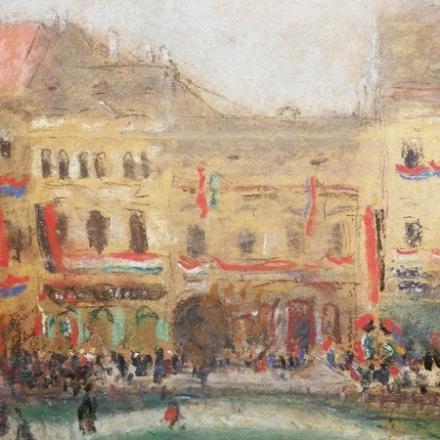 Rippl-Rónai József   Rákóczi ünnep Kassán, 1903