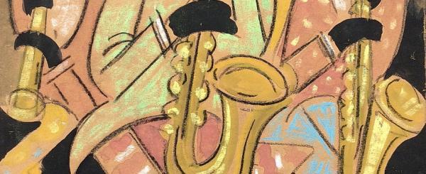 Hugó Scheiber (1873-1950) - The Jazz Band, c' 1930 years