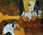 Bálint Endre (1914-1986)   Bach h-moll szvit variáció  42×51cm  monotípia, papír  Jel.j. k. Bálint 73   Kiállítva
