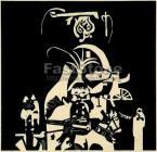 Bálint, Endre (1914-1986)  Mosaic from Szentendre  49×51cm monotype on paper  Signed bottom right:  Bálint 67-71