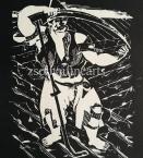 Derkovits Gyula  1514 (Dózsa sorozat)  II. Kaszátfenő paraszt  28.5×26cm  fametszet, papír Jn.
