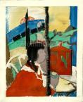 István Farkas   Red Cage, 1928   30×24cm lithograph on Paper  Signed bottom left: Farkas Paris