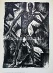 """Kron Jenő  Lap """"A Nap Embere"""" sorozatból, 10.    44,5×30,5cm litográfia, papír Jel. j.l. Kron Jenő"""