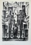 """Kron Jenő  Lap """"A Nap Embere"""" sorozatból, 2.    44,5×30,5cm litográfia, papír Jel. j.l. Kron Jenő"""