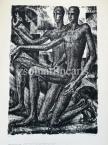 """Kron Jenő  Lap """"A Nap Embere"""" sorozatból, 9.    44,5×30,5cm litográfia, papír Jel. j.l. Kron Jenő"""