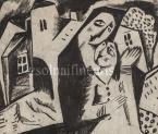 Kádár Béla Szerelmesek, 1920-as évek   21×25cm  grafit, papír  Jn.  / Bírálattal