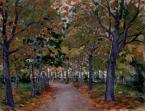 Géza Kádár (1878-1952)  Alley of Chestnut Trees, 1912    50×65cm oil on canvas  Signed bottom right:  Kádár Géza 1912 Pöstyén