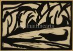 János Mattis-Teutsch  Natural, 1917   13×18cm linocuts on paper