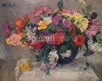 Still-Life with Flowers  50×61.5cm oil on canvas Signed upper left M.Zs.L.