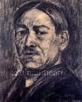 Nagy István  Önarckép, 1924 körül 36×29cm szén, karton  Jel. j. l. Nagy István