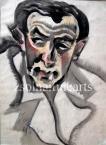 Engelmann Portrait 60×44cm chalk on paper Signed bottom left: Scheiber H