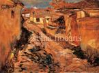 Scheiber Hugó  Utcarészlet, Tabán, 1910-es évek vége  65,5×89,5 cm olaj, karton Jel. j. l. Scheiber Hugó  /  Kiállítva, Reprodukálva