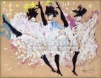 Vértes Marcell (1895-1961)    Moulin Rouge /  Kán kán  54×68.5cm gouasch, papír  Jel.j.l. Vertes